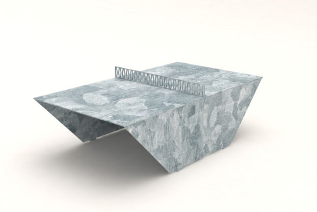 3D rendering af PingOut table tennis table - galvanized
