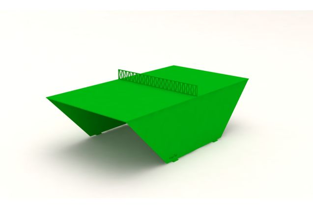 3D rendering af PingOut table tennis table - painted